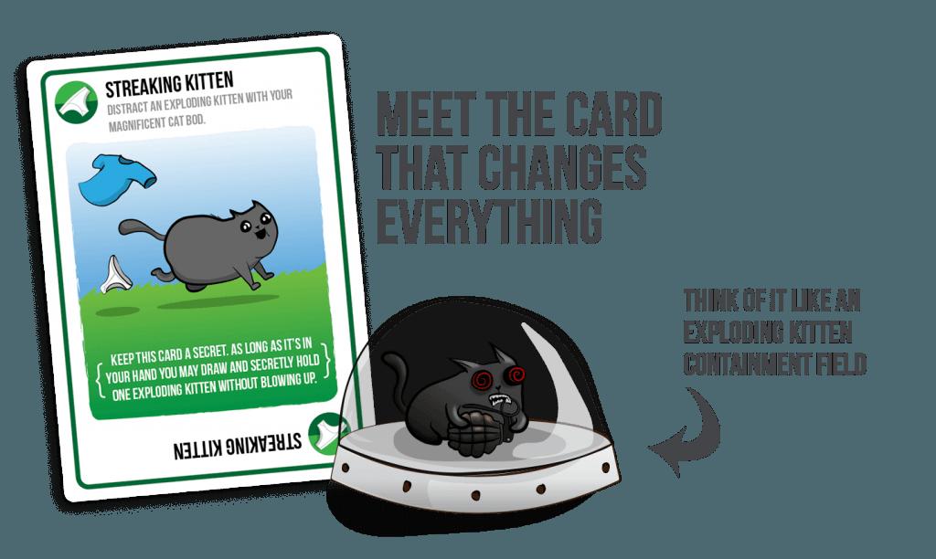 streaking kitten kaart