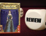 Love letter review. Speldoos van Love Letter en dobbelsteen.
