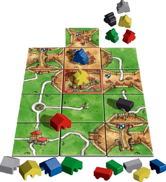carcassonne burgemeesters en abdijen spelmateriaal
