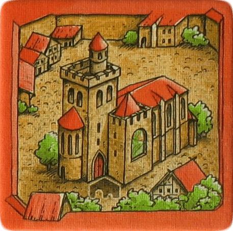 carcassonne burgemeesters en abdijen abdij tegel