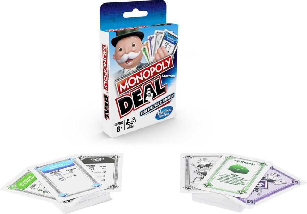 monopoly deal spelmateriaal